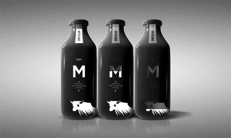Концепт упаковки премиального молока MILK