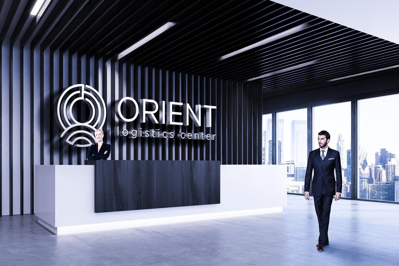 Логотип и фирменный стиль «ORIENT LOGISTICS CENTER»