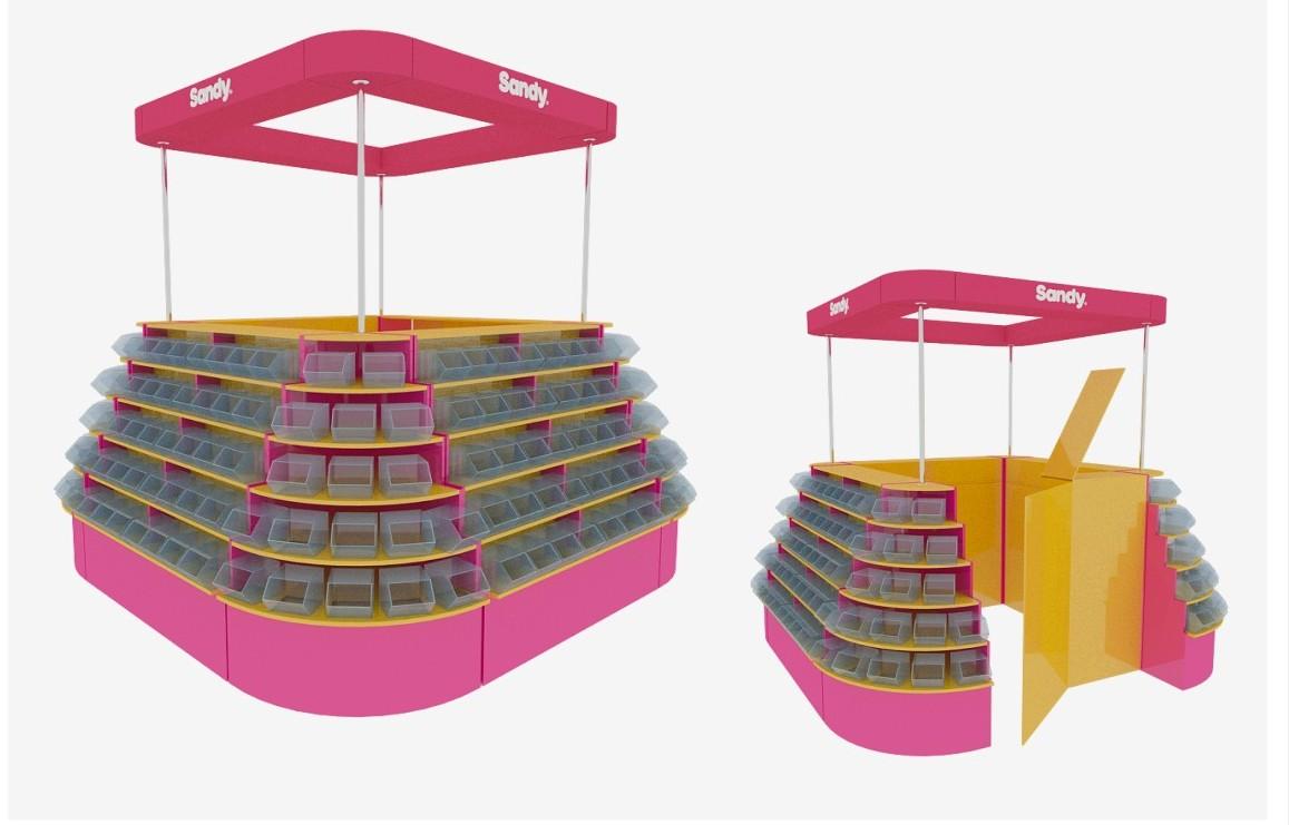 Дизайн торгового оборудования Sandy